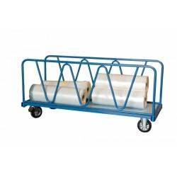 Chariot charges lourdes 1600x800 mm 2 ridelles 1200 kg